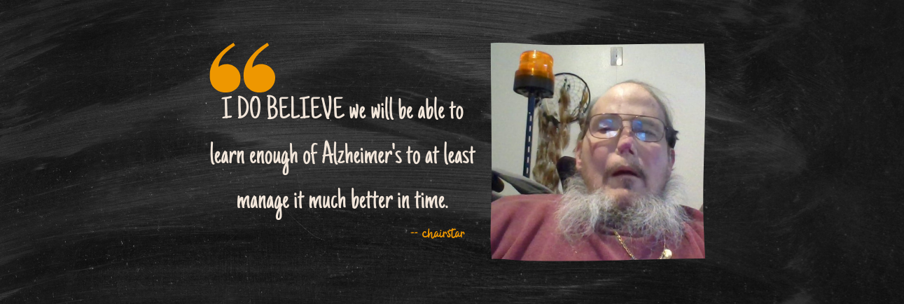 """I DO BELIEVE we will be able to learn enough about Alzheimer's"" - the story of catcher John (chairstar) 💜"